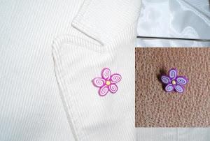 broches flor fimo espiral