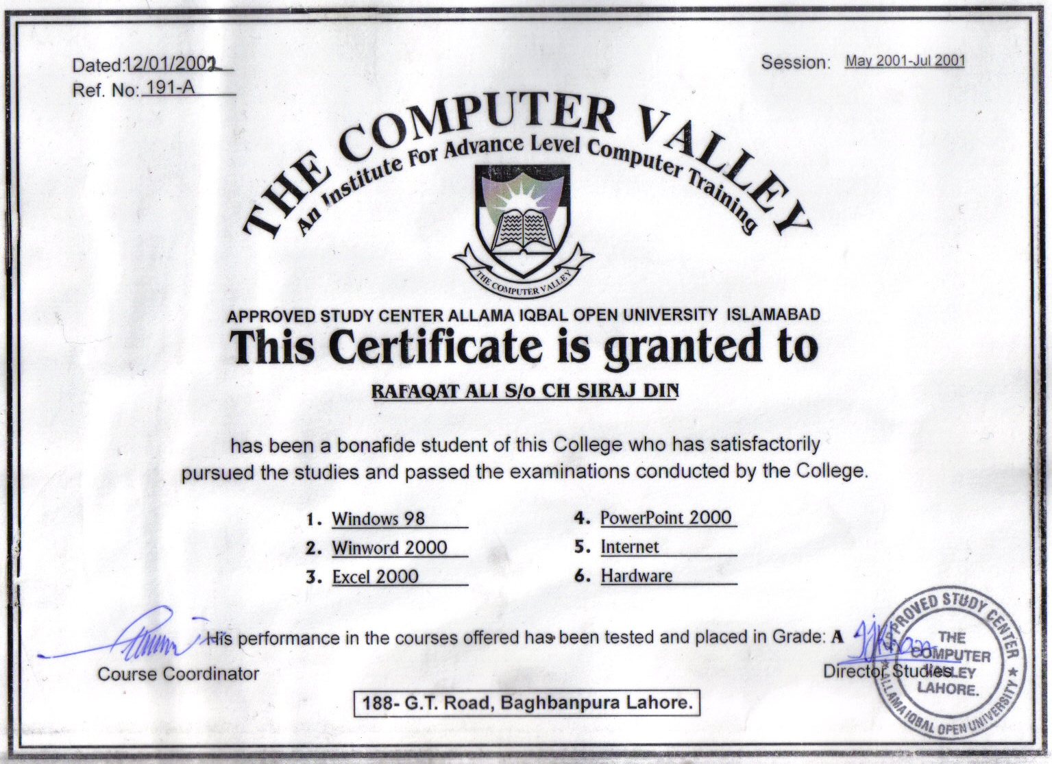 Training Certificate Sample sample of job proposal – Training Course Certificate Template