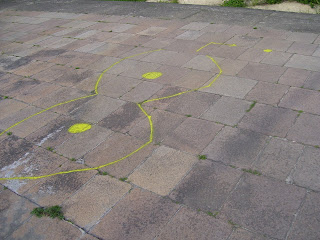 sidewalk graffiti warszawa powisle
