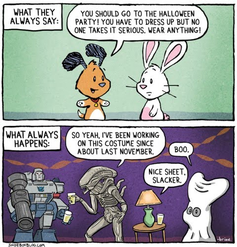 This is not a comic strip, it's several years of Halloween parties from my ...