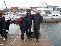 Brenda, Manny and Chris at Troon Marina