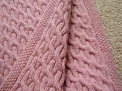 REVERSIBLE CABLED BABY BLANKET PATTERN Sewing Patterns for Baby