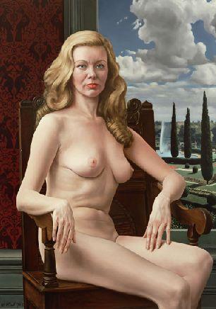 la plus belle peinture hollandaise de femme nue Syliva_naakt_in_stoel_gezeten_Albert_Carel_Willink