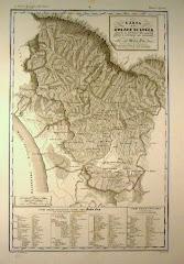 Mappa del Ducato di Lucca 1820 circa