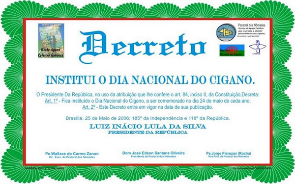 Decreto Dia Nacional do Cigano