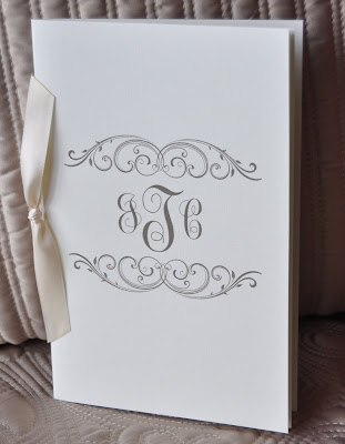 Layout Jackie Wedding Program Ink Color Slate Paper Natural Linen