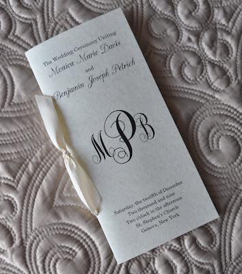 Layout Savannah Wedding Program Ink Color Black Paper Natural Astroparche