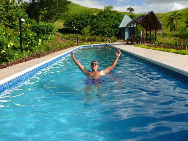Babasiga: Well it beats swimming in the Qawa River!