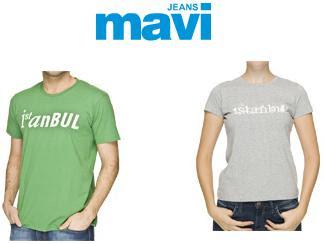 mavi1 - Mavi Jeans �stanbul T-shirt 'leri