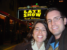 us at  the David Letterman show in NY