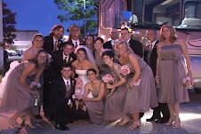 wedding party in front of motor home