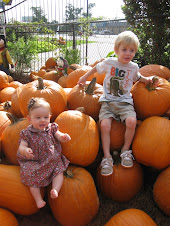 Hadley and Rex at pumpkin patch