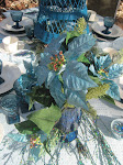 Teal Poinsettias
