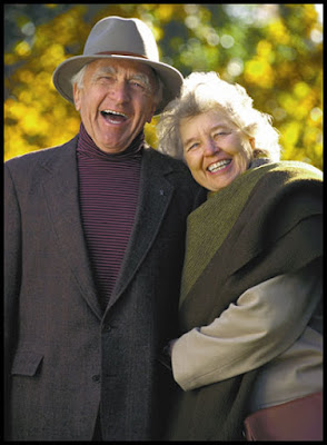 old couple so happy smiling