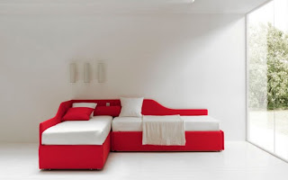 Modern Sleeper Sofas Design Decorate with red color
