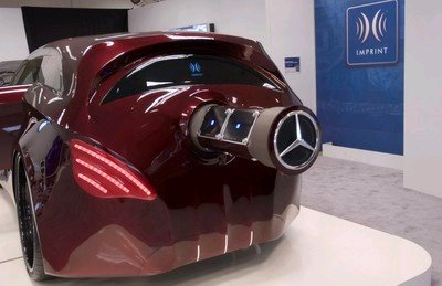 Design Mercedes concept car with sticky out bits