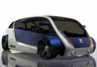 Modern Futuristic Model MYBUS Concept Car