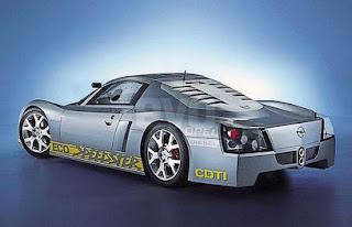 Model Vauxhall ECO Diesel Futuristic Concept Car