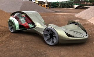 New Greats Moder Futuristic Design Drool Over Green Concept Car for Future
