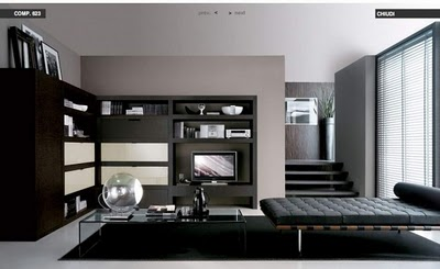 luxury black loungebed livingroom