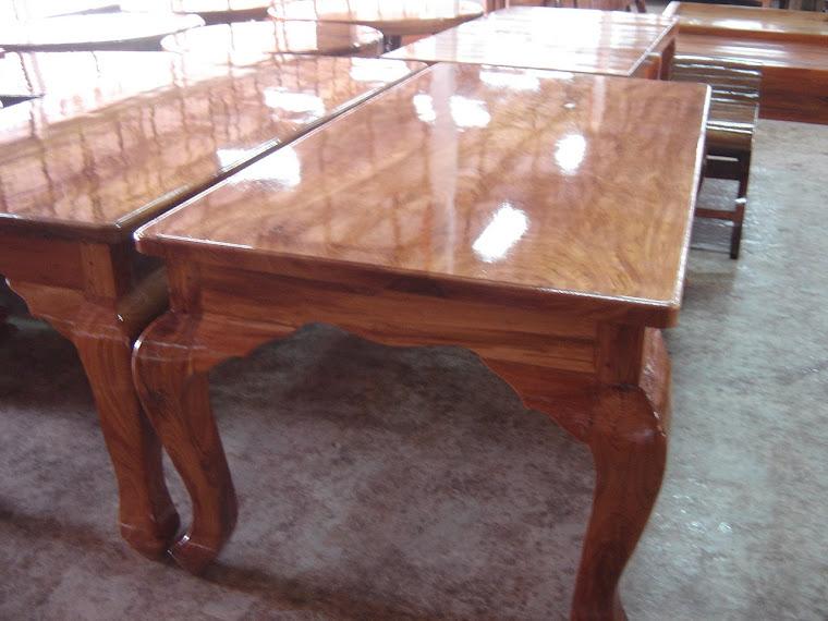โต๊ะอาหารไม้แผ่นเดียว  1 x 2 เมตร