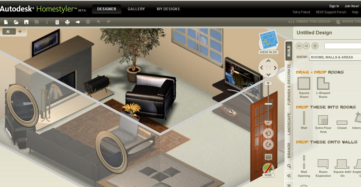 Autodesk homestyler easy to use free 2d and 3d online home for 3d interior design websites