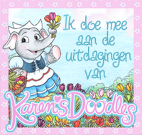 ik doe mee aan de uitdaging van Karen Doodles