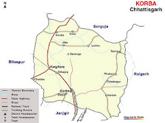 Map of Korba
