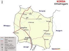 Map of Korba