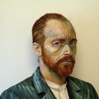 design fetish james birkbeck van gogh make up painting Hyper Realistic Van Gogh
