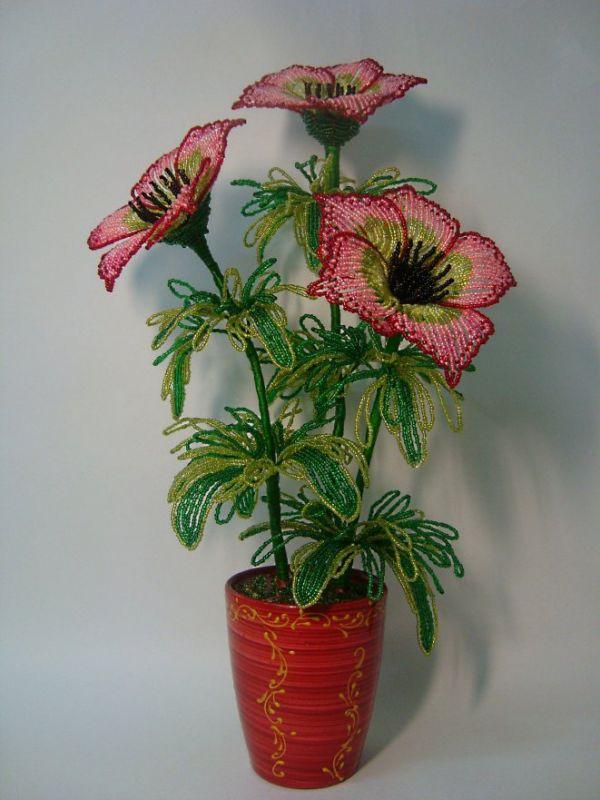 Фото цветов из бисера