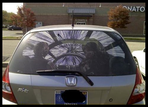 JIMSMASH SWEET STAR WARS REAR WINDOW STICKER FOR YOUR CAR - Car rear window stickers