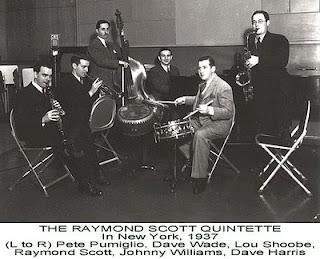 Los miembros del Raymond Scott Quintette en los años 30