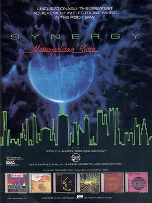 Poster promocional del álbum de Larry Fast como Synergy, Metropolitan Suite