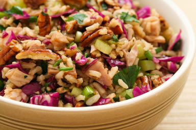 Brown Rice Salad with Leftover Turkey
