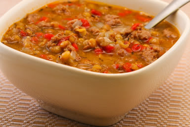 Lentil and Sausage Sop