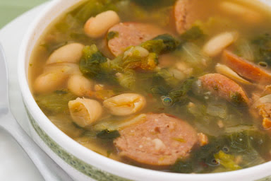 Bean Soup with Italian Sausage and Escarole