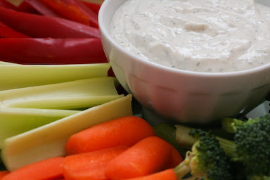 From-Scratch Diet-Friendly Ranch Style Dip with Dill found on KalynsKitchen.com