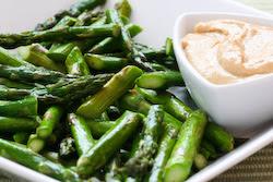 Roasted Asparagus Recipe with Creamy Tahini-Peanut Dipping Sauce ...