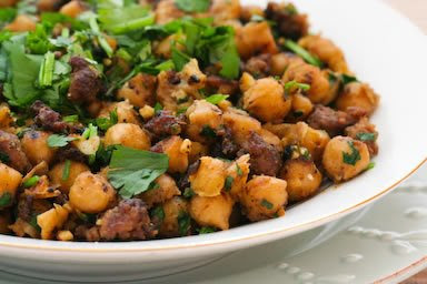 Spicy Sauteed Chickpeas