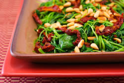 Sauteed Broccoli Rabe Recipe with Sun-Dried Tomatoes and Pine Nuts ...