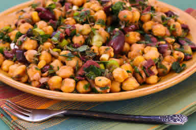 Chickpea Salad with Olives and Herbs