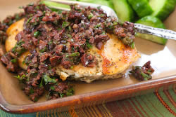 Sauteed Chicken Breasts Recipe with Olive and Caper Sauce