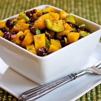 Recipe for Mango Salad with Black Beans, Avocado, Mint, and Chile-Lime ...