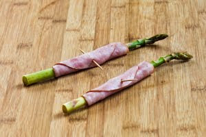 Recipe for Roasted Asparagus Wrapped in Ham | Kalyn's Kitchen®