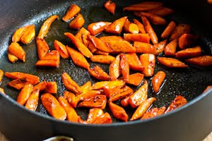 Roast the carrots 10-15 minutes in a 400F/200C oven, until they are ...