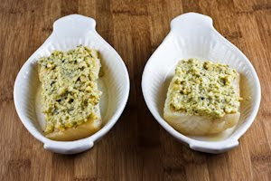 Baked White Fish with Pine Nut, Parmesan, and Basil Pesto Crust found ...