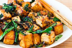 Stir-Fried Tofu Recipe with Scallions, Garlic, Ginger, and Soy Sauce ...