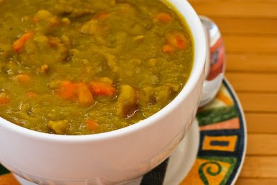Slow Cooker Split Pea Soup with Chicken Sausage and Carrots (Gluten ...