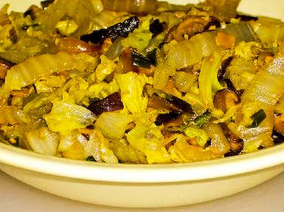 ... Kitchen®: Recipe for Braised Napa Cabbage with Shitake Mushrooms